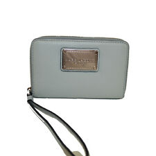 MARC JACOBS Leather Zip-Around Phone Clutch Wristlet Wallet  ICE WOW