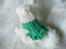XXXXS handmade knit Green dog sweater dress