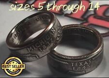 US State Series Quarter Coin Rings (ANY STATE) Sizes 4-14 (Message Size & state)