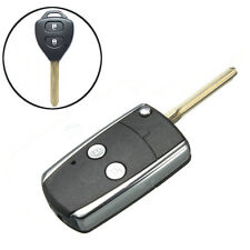 2 Button Remote Key Folding Flip Case shell Fob For Toyota RAV4 Camry Corolla