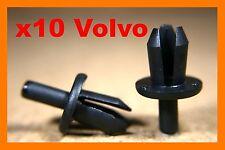 10 Volvo plastic clip rivets bumper fender sill cover lining front rear fastener