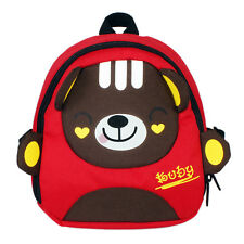 Little Child Toddler PreK Movie Cartoon Book Bag School Backpack Bear-Red Cute
