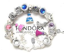 Pandora Bracelet Silver Disney Cinderella Princess Dresses European Charms New