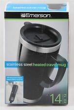 Emerson Travel Mug Stainless Steel Heated 12V Adapter BRAND NEW