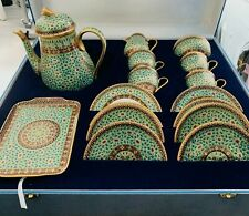 More details for thai full tea set royal china bones green emerald- used, very good condtion