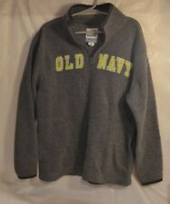 USED Boys Small size 6/7 OLD NAVY Zip Neck Pullover Gray Sweatshirt