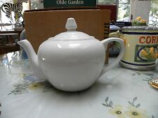 Ceramic Tea Pot White Micro, Dishwash,Oven Safe