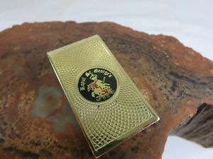 Vintage Royal Saint George Gold Tone Enamel Money Clip KCA1