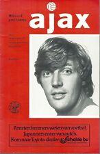AJAX V MANCHESTER UNITED 1976/77 U.E.F.A CUP MATCHDAY PROGRAMME - 15/09/1976