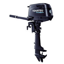 "6 HP Tohatsu Outboard Motor 4-Stroke Boat Engine - 20"" Long Shaft - MFS6CL"