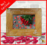 Personalised Engraved Wooden Photo Frame For Valentines Day Present Gift Gifts