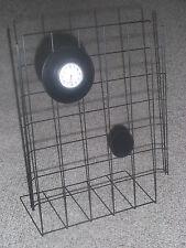 Schmuckständer*Gitter*STÄNDER*Schmuck*schwarz mit Uhr + Applikation*Gitteruhr