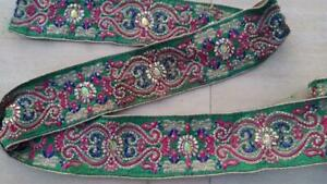 """6 M  x 3.5"""" NEW Jacquard Multicolor Mirror Lace Craft Sewing TRIM"""