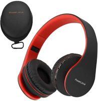 PowerLocus Casque Bluetooth sans Fil, Pliable Casque Audio Stéréo