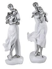 Dekofiguren Skulptur Paar auf Herz weiß Silber 40cm Formano