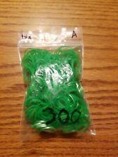 300 green Wonder Loom Rubber Bands hair tie bracelet kit