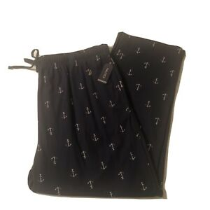 Nautica Men's Indigo Long Lounge Pajama Bottoms Anchors Sz 2XLT
