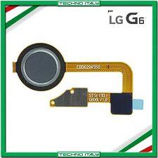 TASTO HOME FUNZIONE GRIGIO GRAY PER LG G6 H870 RICAMBIO + FLAT FLEX NUOVO