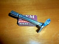 GEM MICROMATIC 1930's Open Comb Single Edge Safety Razor, CHROME PLATED - NICE