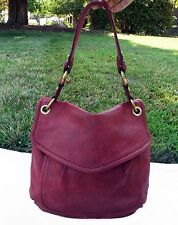 Fossil Raspberry Lamb Leather Modern Cargo Flap Shoulder Bag Hobo ZB5054