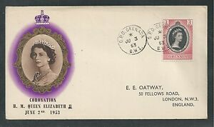 GRENADA # 170 CORONATION OF H.M. QUEEN ELIZABETH II, 1953 First Day Cover