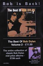 Bob Dylan 2001 The Best Of Bob Dylan Vol. 2 Original Uk Promo Poster
