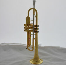 Professional Reverse Leadpipe Trumpet Engraving Bell Gold horn Abalone With Case