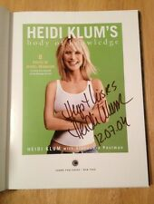 SIGNED Heidi Klum's Body of Knowledge : 8 Rules of Model Behavior +PHOTO