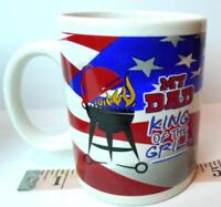 My DAD King of the Grill Coffee Mug Summertime BBQ Fathers Day Gift