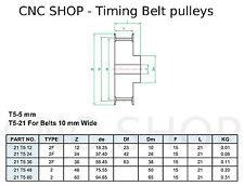T5 10mm WIDE BELT 48T 8mm BORE TIMING PULLEY CNC MACHINE 3D PRINTER MOTOR DIY