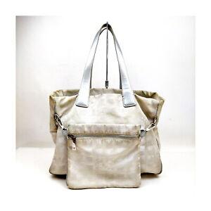 Chanel Tote Bag  Silver Nylon 1728443