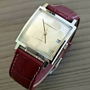 "1960's VINTAGE GIRARD-PERREGAUX GYROMATIC ""CHESS"" S/S 39J  AUTOMATIC MENS WATCH"