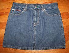 Women's Denim Jean Mini Skirt Size 5 Tommy Hilfiger American Flag Nm