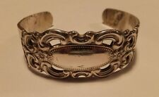 Grand Duchess Cuff Bangle Bracelet Vintage E.J. Towle Sterling Silver