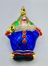 "Delightful Adler Polonaise Clown Ornament - Very Colorful & Large 7"""