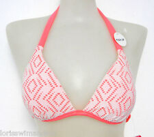 Hula Honey Junior Medium Ginger Crochet Bikini Swimsuit TOP ONLY M NWTD