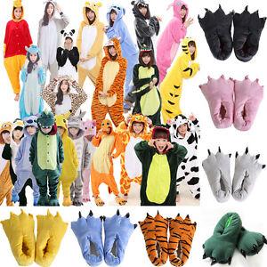 Kids Adults Animal Pajamas Kigurumi Onesie888 Cosplay Party Sleepwear Halloween