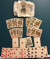 Antique Playing Cards No Indices 1880 Old West Post Civil War Full Deck!
