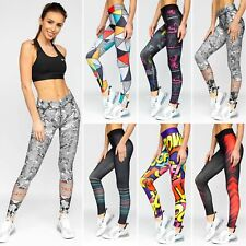 Leggings Sporthose Trainingshose Leggins Slim Fit Print Damen Mix BOLF Aufdruck