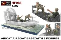 Hobby Fan 1/35 HF-083 Aircat Airboat Base with 2 US Soldiers (Vietnam War)