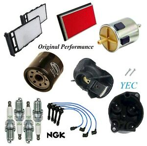 Tune Up Kit Filters Cap Wire Spark Plugs For INFINITI G20 L4 2.0L 2000-2002