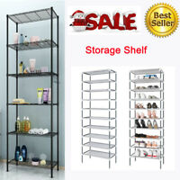 6-Tier Storage Shelf Wire Shelving Unit Free Standing Rack Organization Home