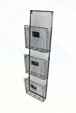 New Pewter 3 Pocket Wall File Holder Free Shipping