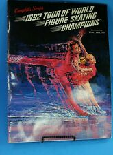1992 World Figure Ice Skating Dancing Champions Tour Book Good Condition
