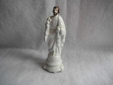 Art religieux statuette globe de Mariée Saint Joseph porcelaine blanche 19 e