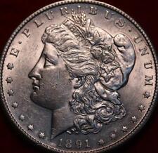Uncirculated 1891-S San Francisco Mint Silver Morgan Dollar