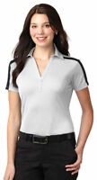 Port Authority Women's Colorblock Three Button Polyester Golf Polo Shirt. L547