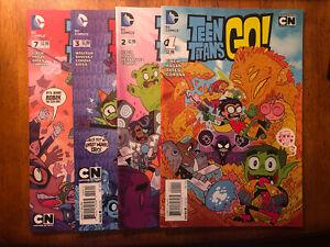 Lot Of 4 Teen Titans Go! DC Comics 2014 Cartoon Network