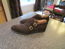 Herring x Cheaney Blair Brown Suede Double Monk Strap Men's size Uk 7.5F/Us 8.5D