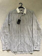 PAUL SMITH Raya Manga Larga Camisa Informal Cuello en contraste - M - P2P 50.8cm